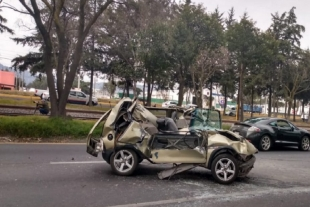 Registran accidente en la carretera Toluca-Palmillas